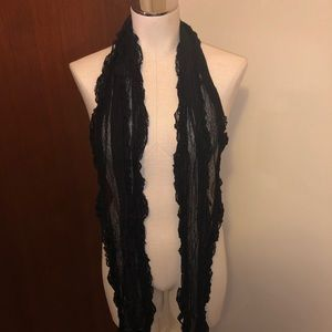 Express Black Lace Scarf